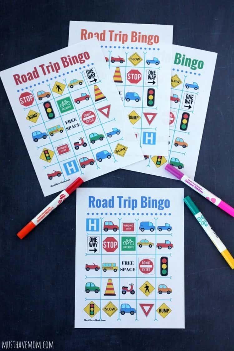 Travel tips, fun games for the kids bingo
