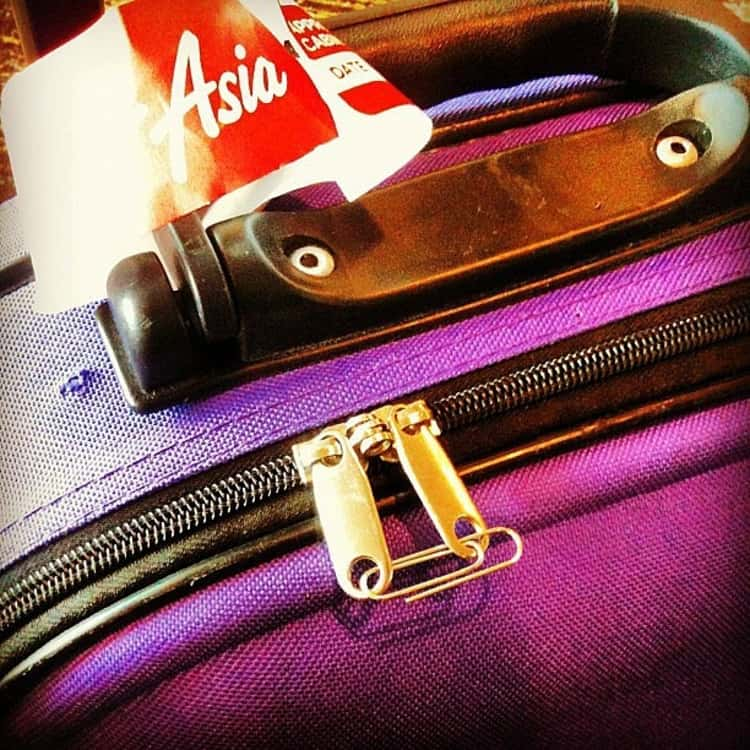 Travel tips, paper clip keeps luggage locked in a pinch, attached to both zippers.