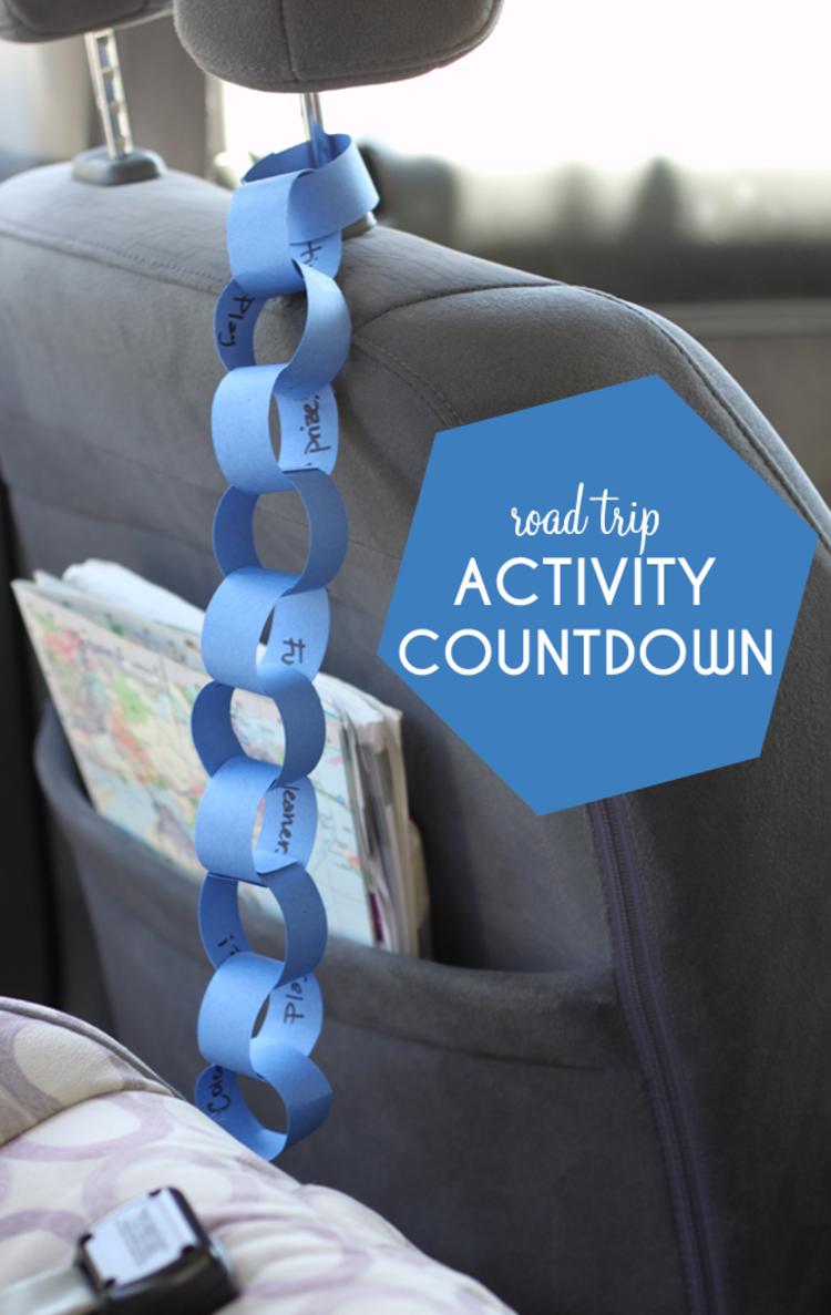 Travel tips, paper chain of road trip activities to keep the kids entertained
