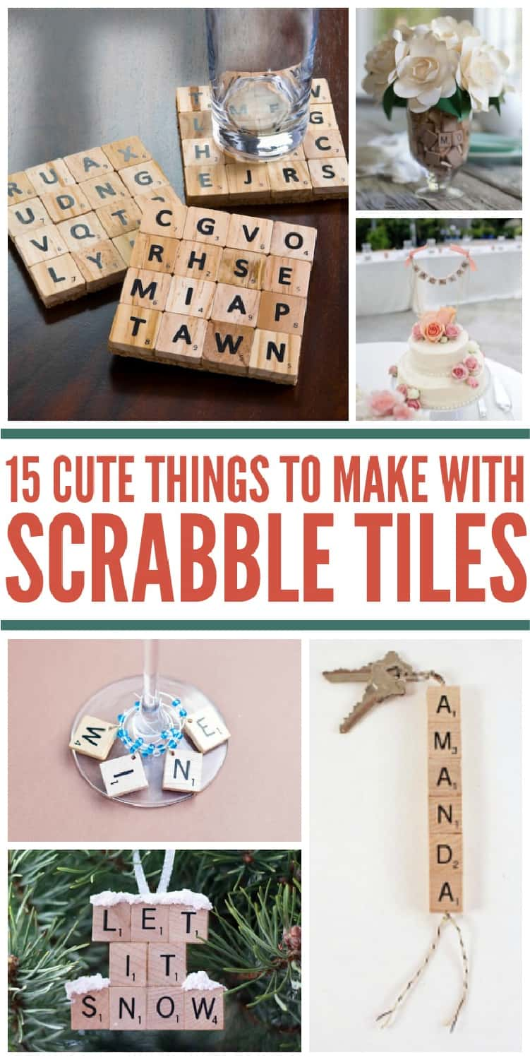15 cute things to make with scrabble tiles collage