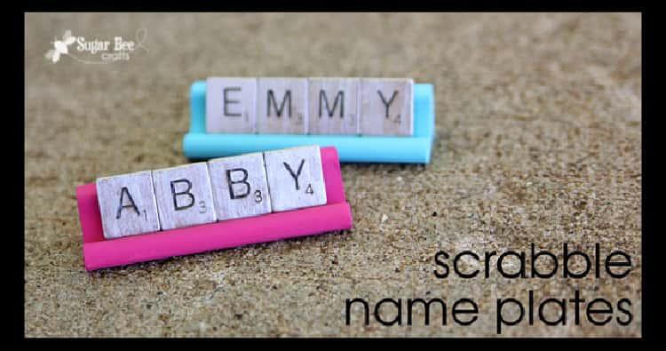 scrabble tile name holders