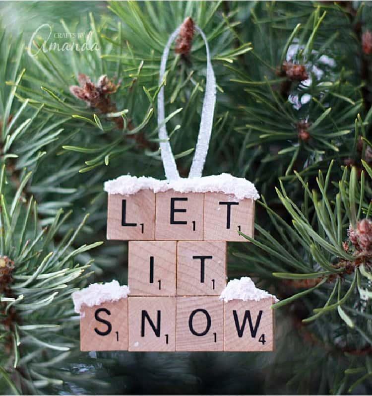 DIY Let It Snow Christmas Tree Ornament