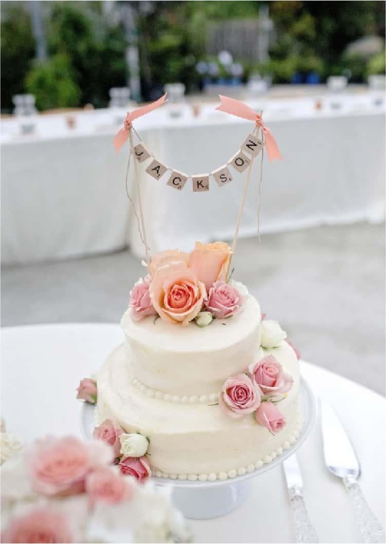 Scrabble Tiles As A Wedding Cake Topper