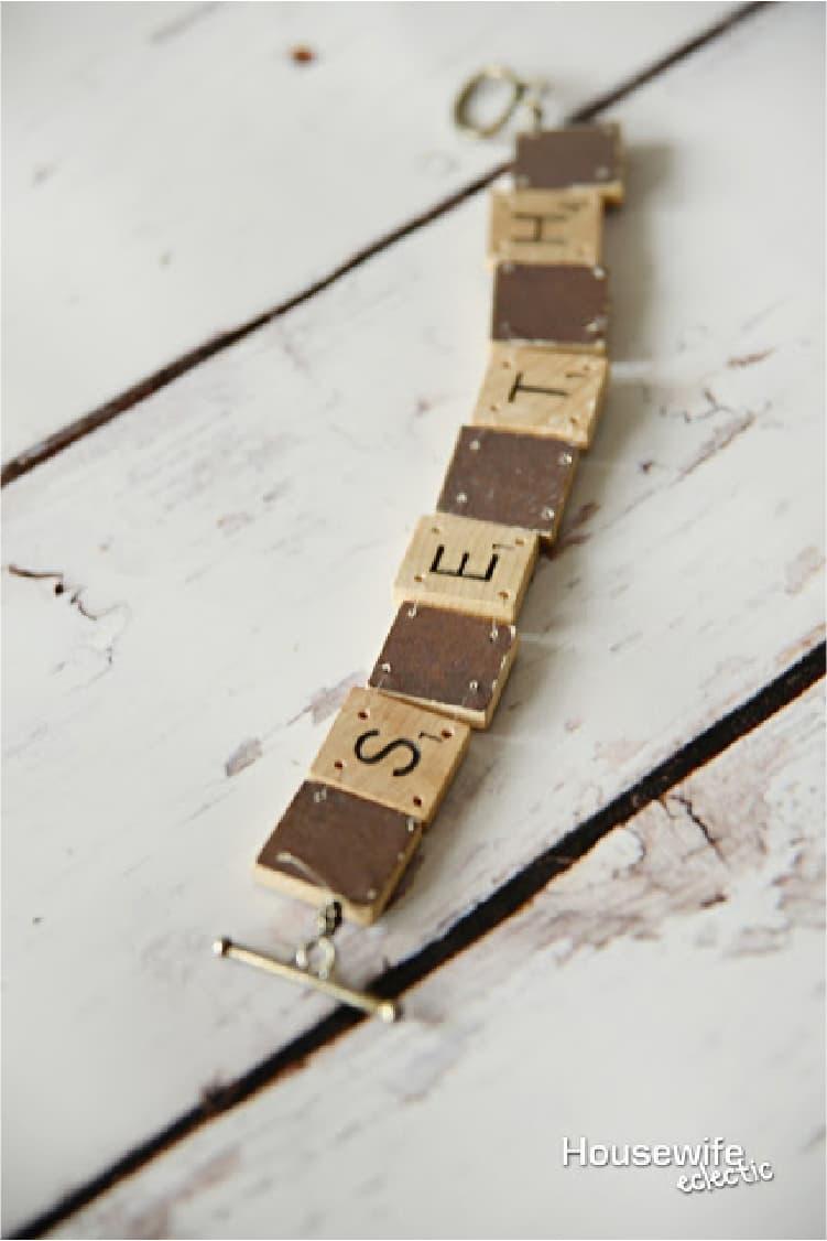 Use Scrabble Tiles To Make A Name Bracelet