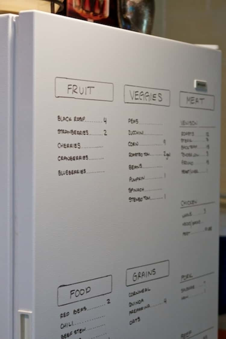 Keep track of what's in your fridge by writing it directly on your fridge door