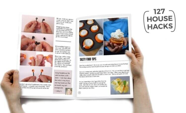 A downloadable ebook of 127 house hacks