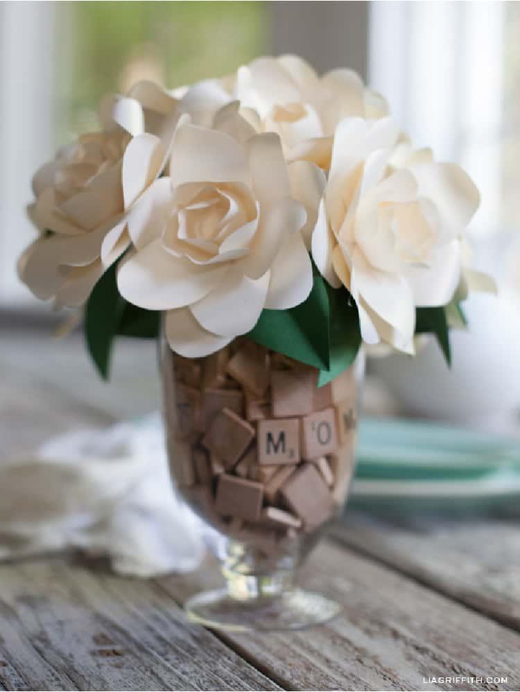 Scrabble Tiles In Vases as a vase filler
