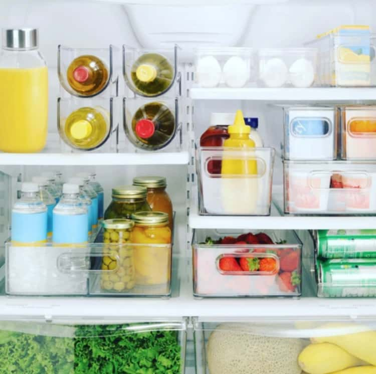 Group like items together for an organized fridge