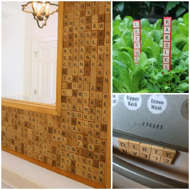 15 Uses for Scrabble Tiles collage