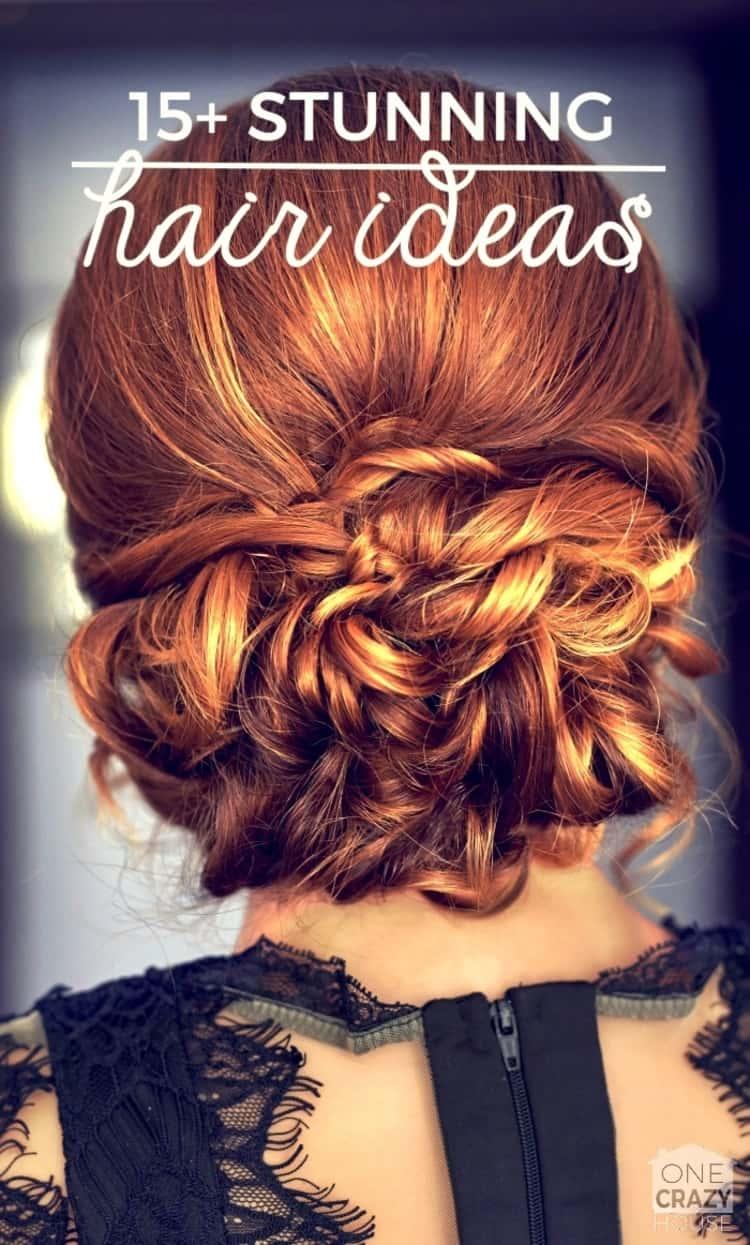15+ Stunning Hair Ideas- a photo featuring a chignon bun