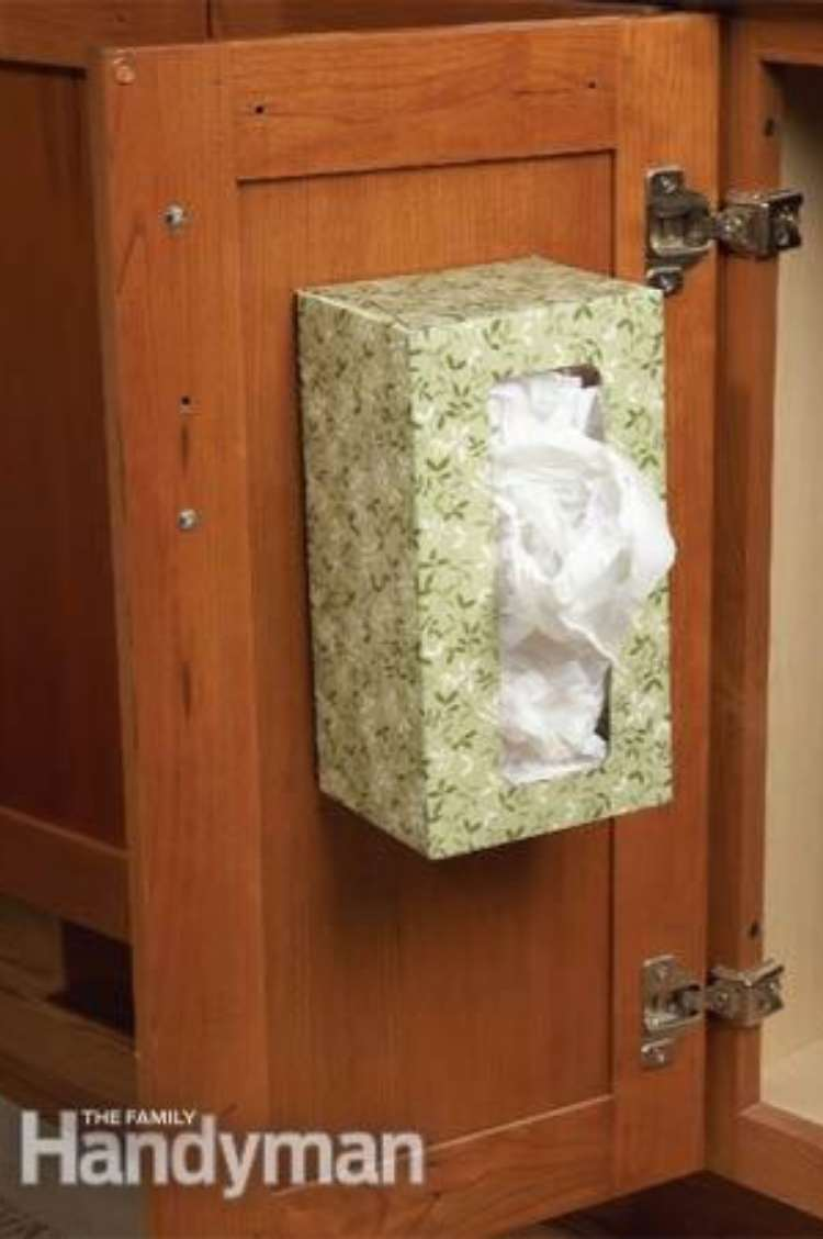 plastic grocery bags in a tissue box