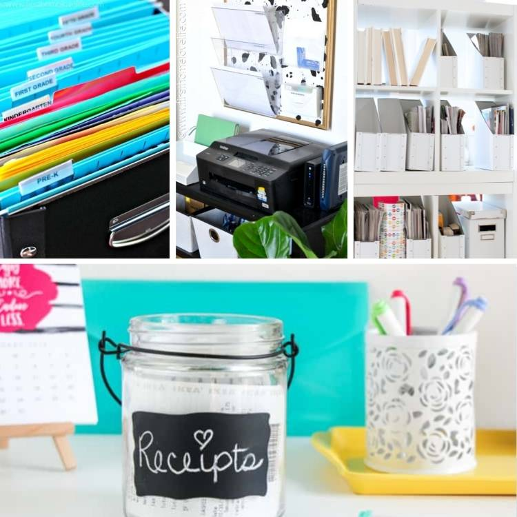 genius tips to get rid of paper clutter in the home office