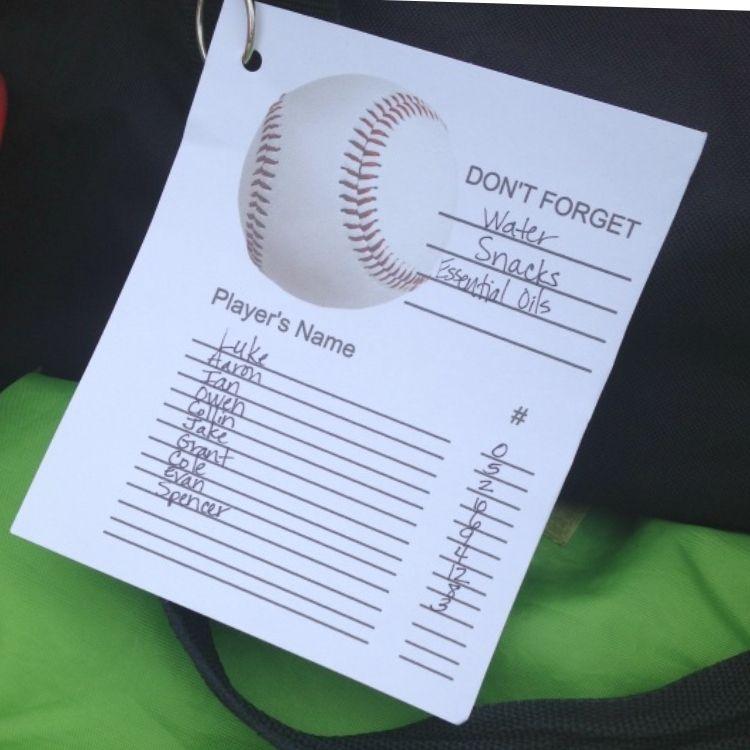 coach's reminder list