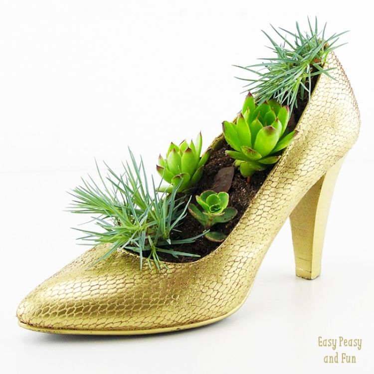 Fancy Shoe Flower Container