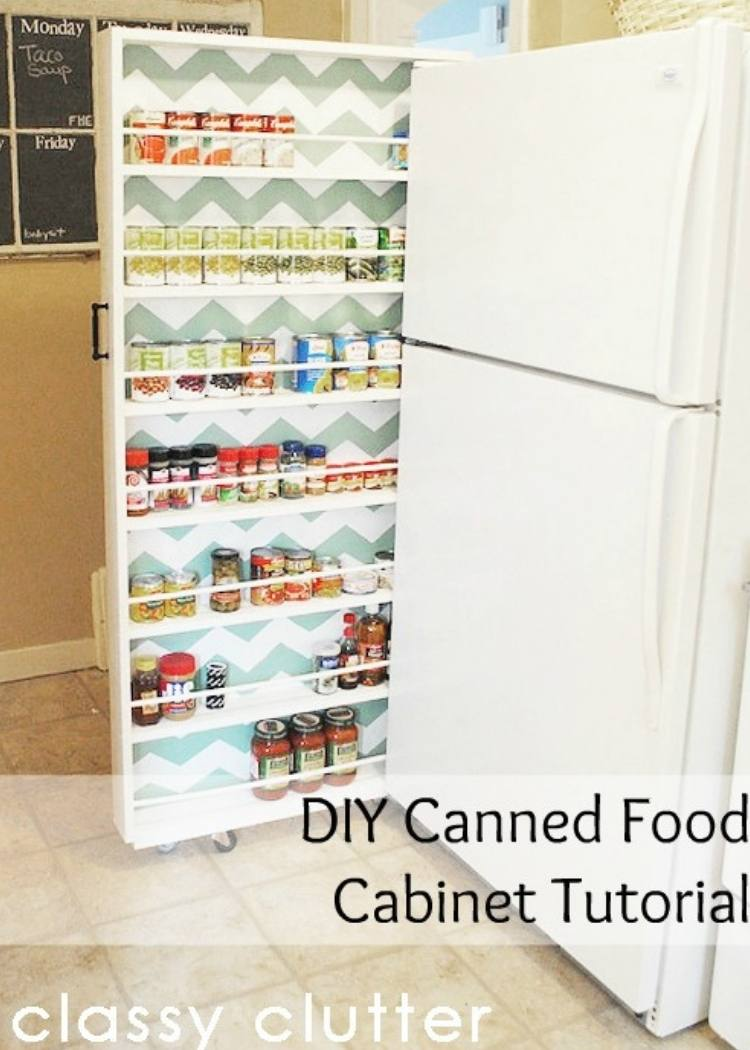 Repurpose pencil boxes as spice racks in tiny pantry rooms.