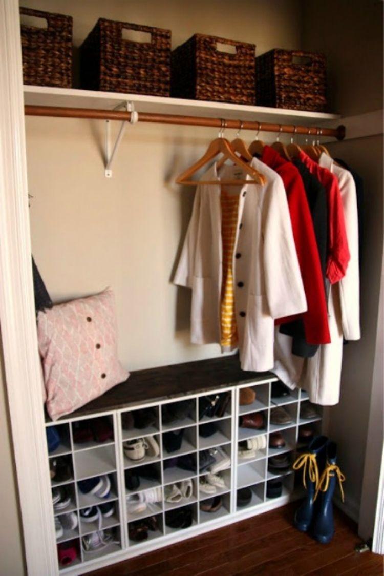 Add shoe cubbies to maximize shoe storage