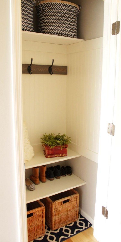 Add large basket under the shoe shelf