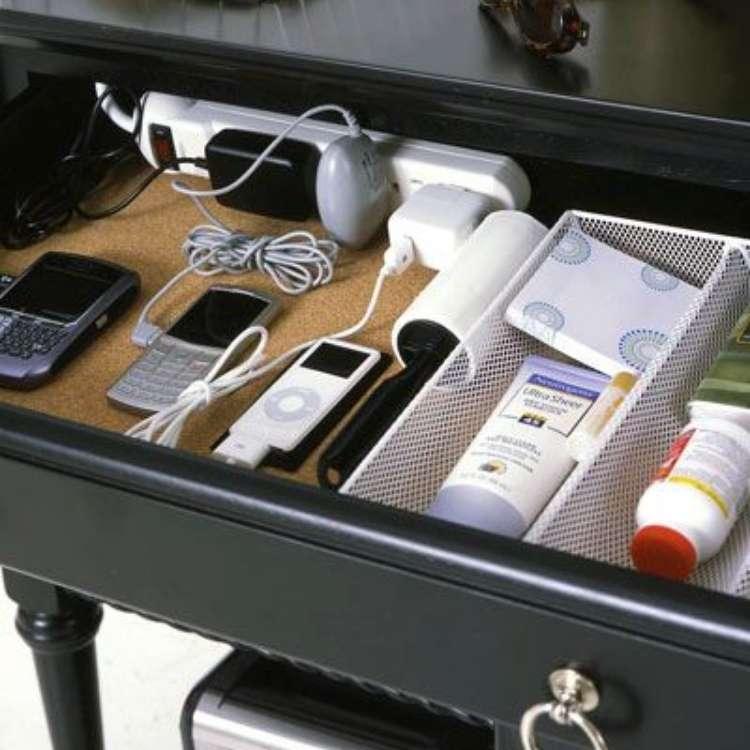 inside of drawer