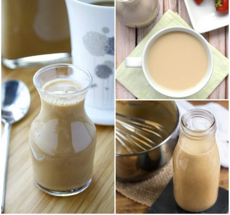 Collage of coffee creamers