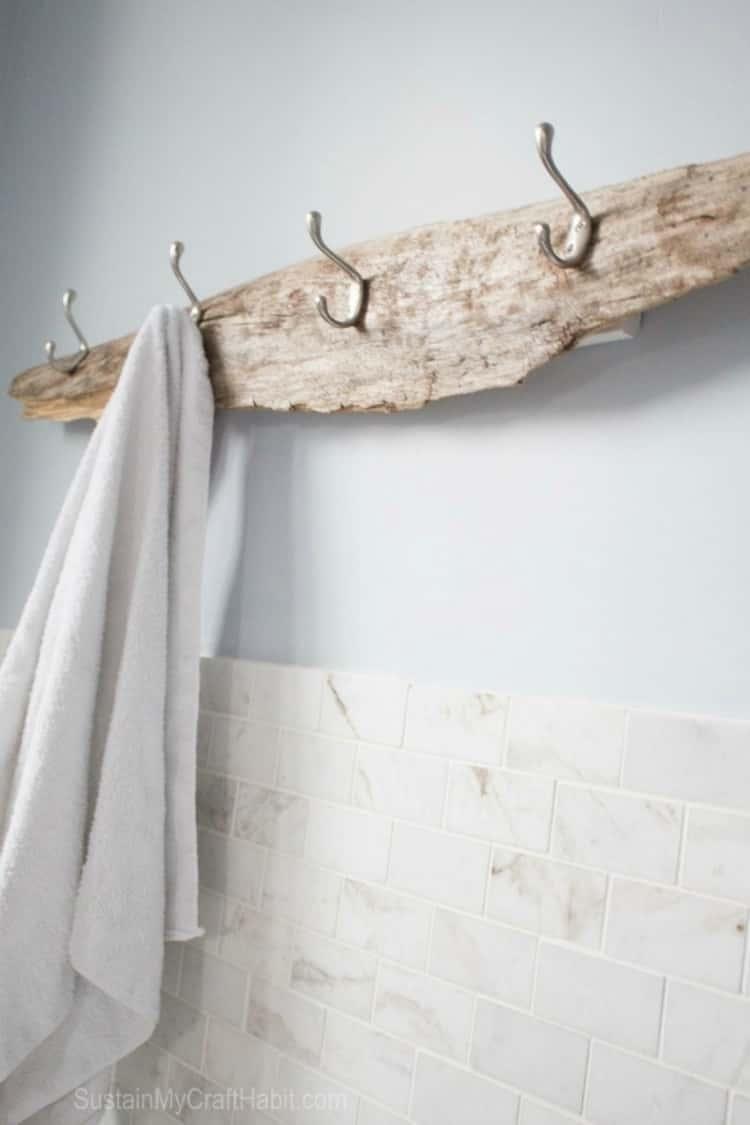 driftwood towel holder