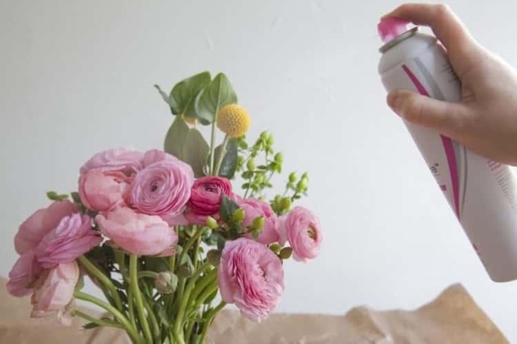 Hairspray Hack for Flower Preservation