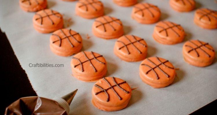 Chocolate basketball treats