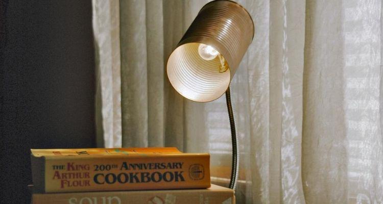 tin can desk lamp