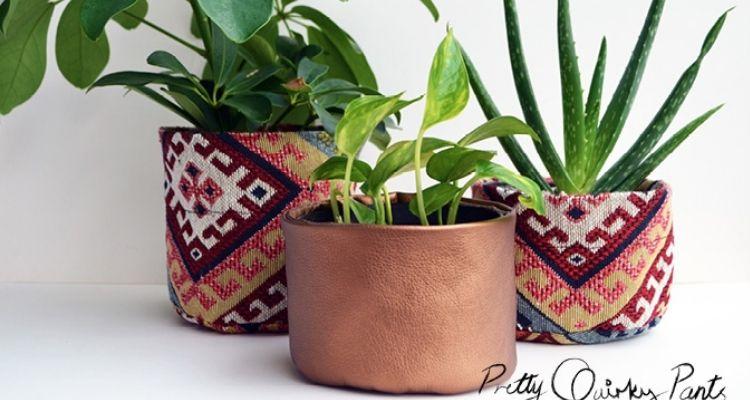 Fabric Flower Pots