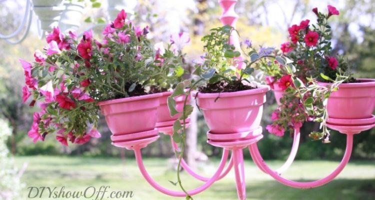 planter chandelier