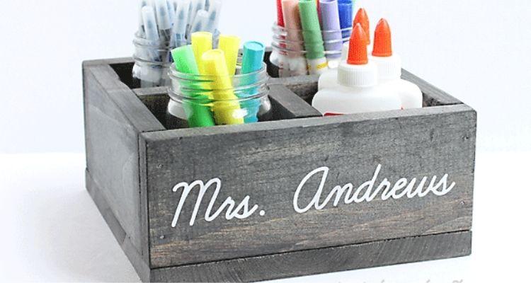 organizer gift for teacher's supplies
