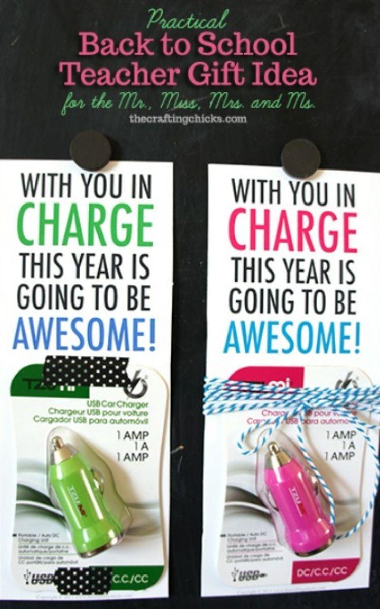 phone charger teacher gift