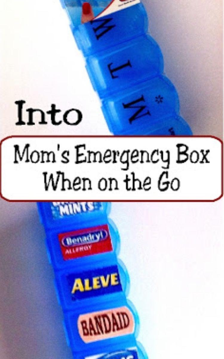 pill box turned into mom's emergency box