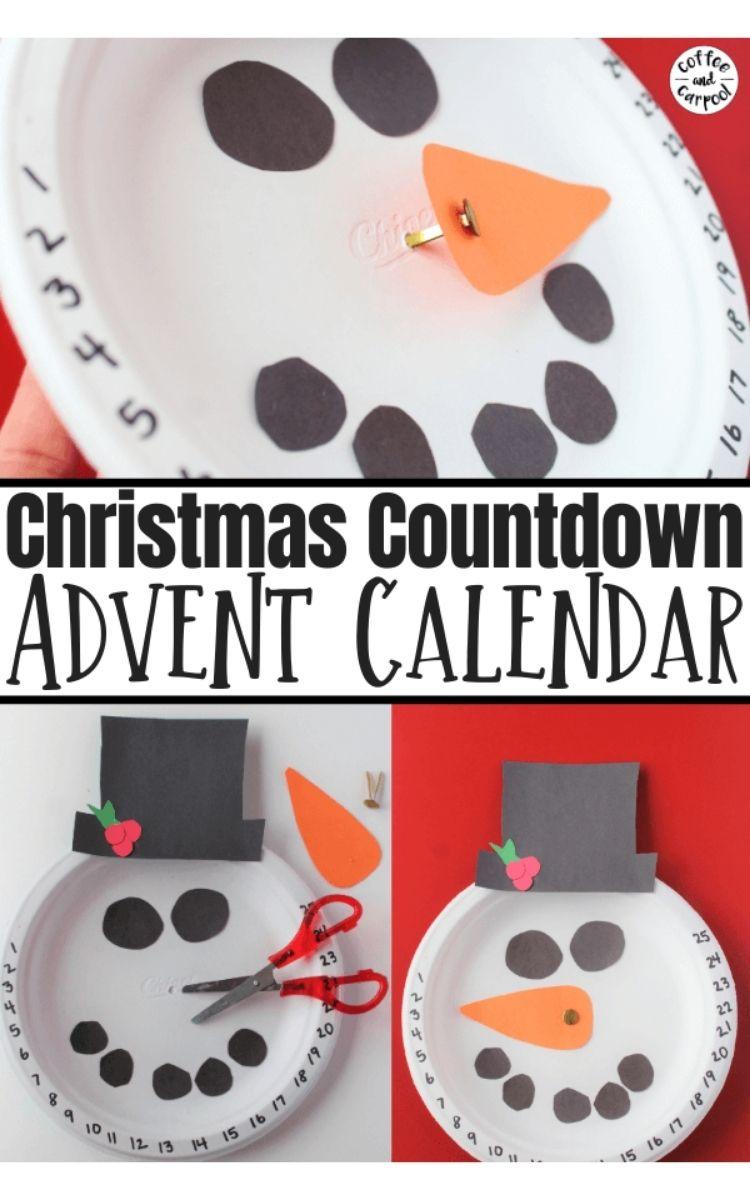 paper plate advent calendar