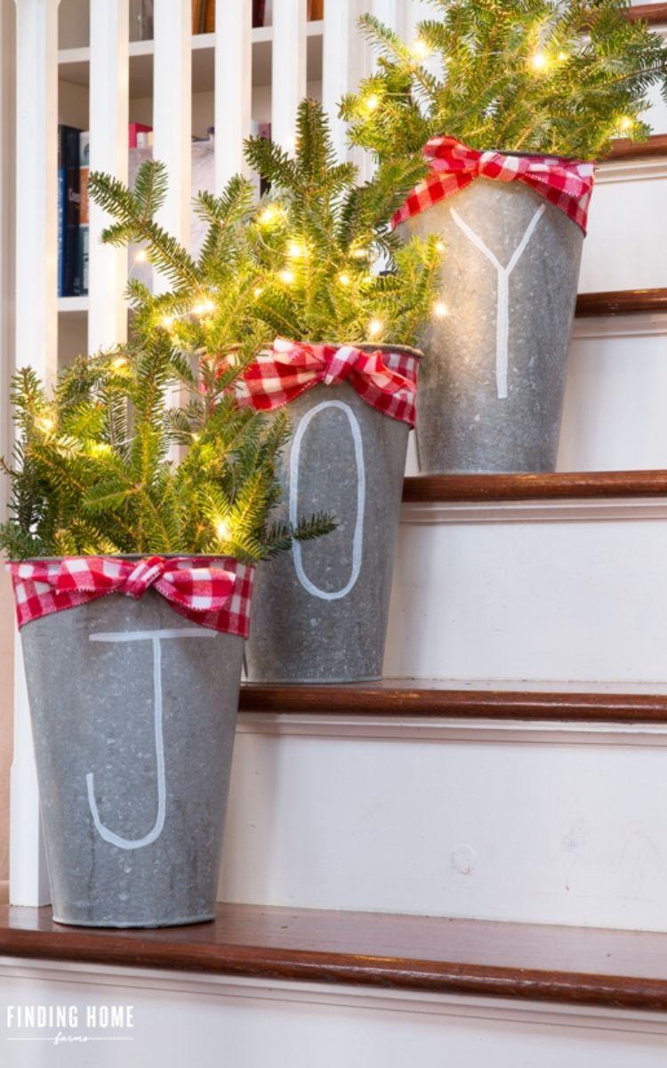 galvanized joy buckets