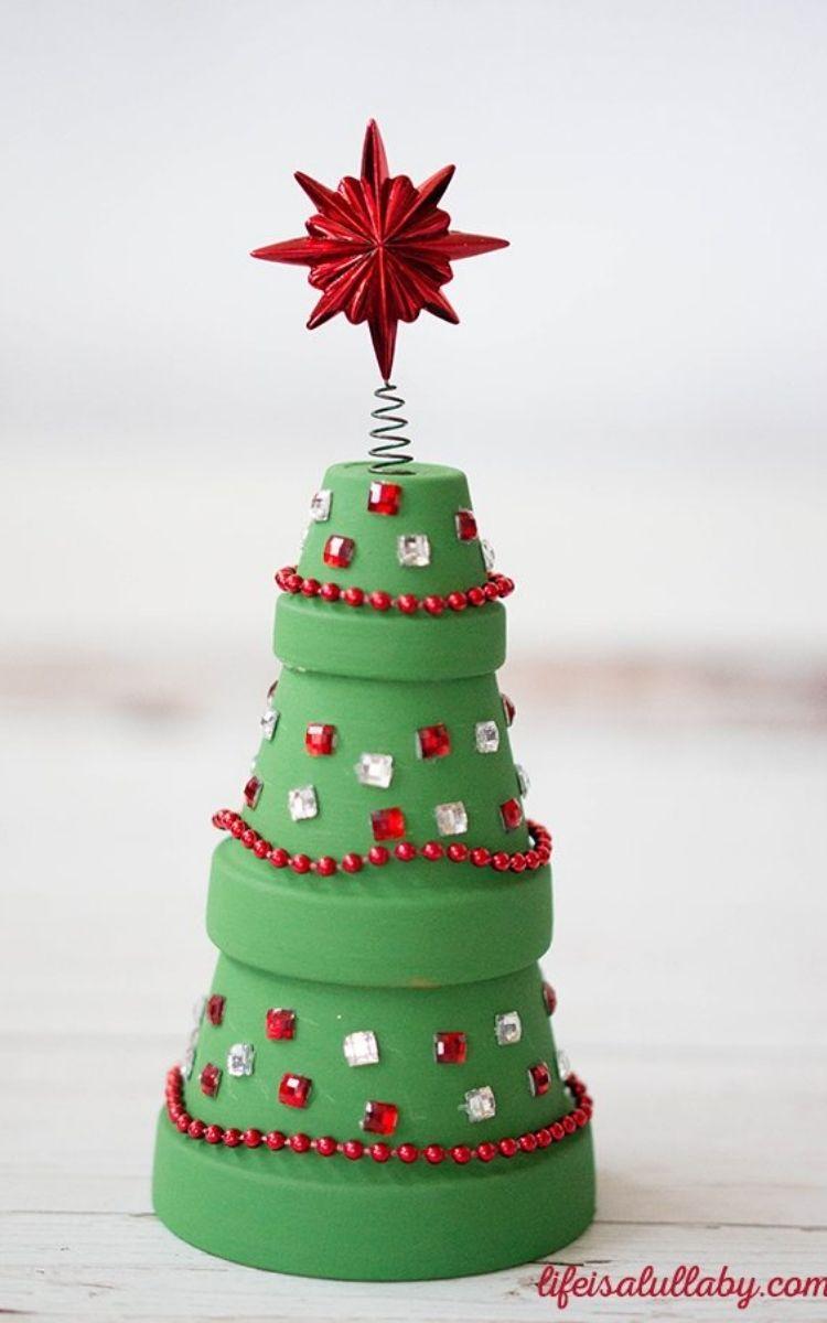 terracotta christmas tree decoration