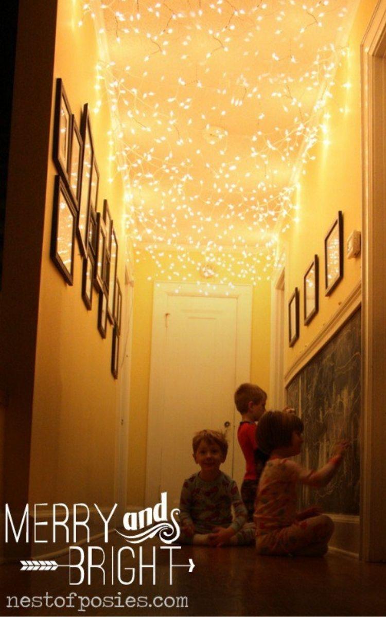 Lights on ceiling of hallway