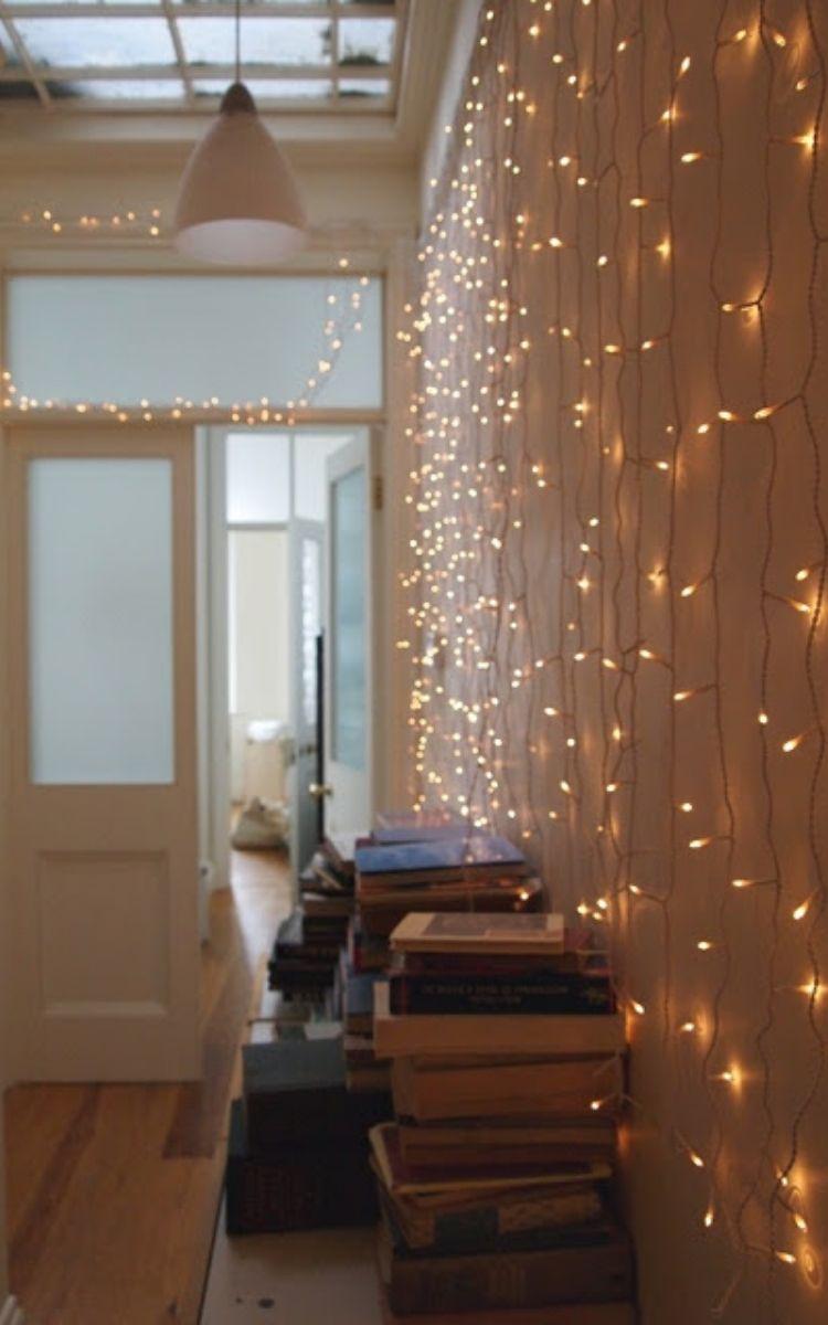 lighted hallway walls