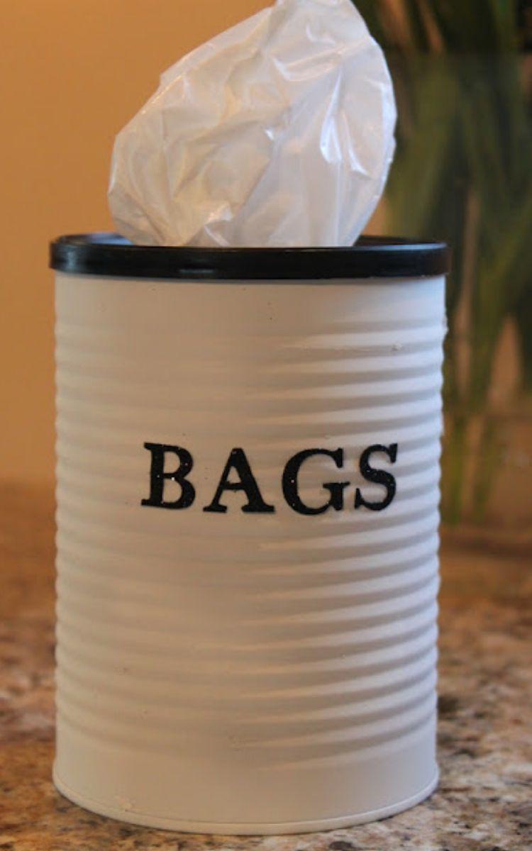 tin can bag dispenser