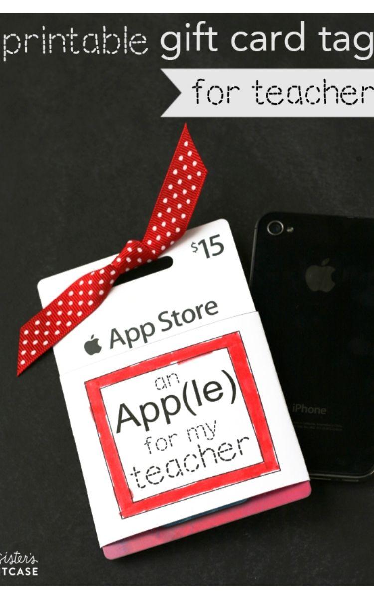 App Store gift card for teacher