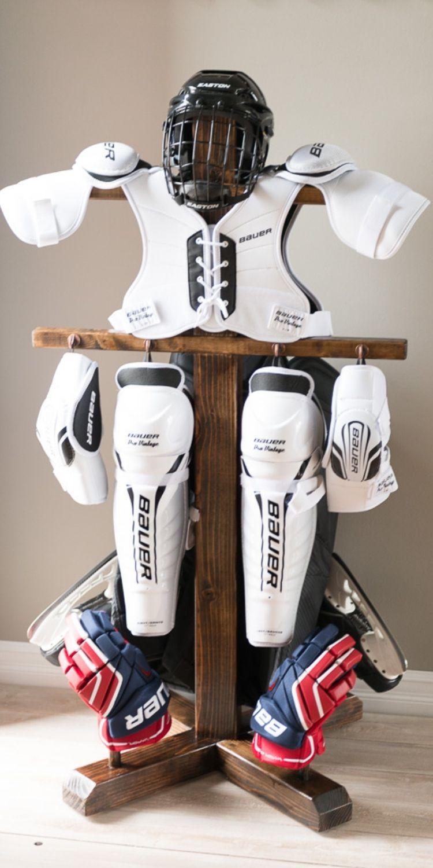 build a hockey drying rack