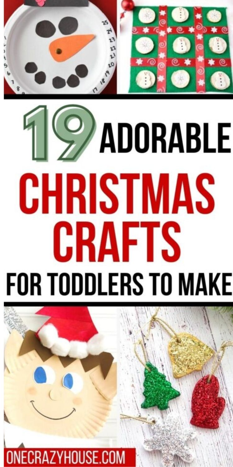 Christmas crafts for toddlers - paper plate advent, elf on a shelf paper plate