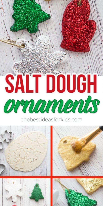 decorated Salt dough ornaments