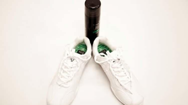 Hairspray hack to help keep shoelaces intact