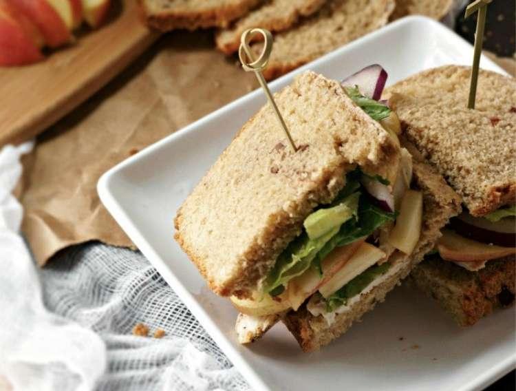 Roasted Turkey, Apple and Cheddar Sandwich