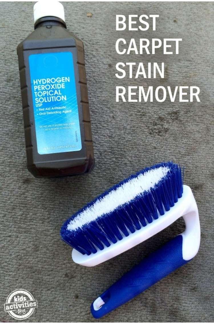 Hydrogen Peroxide Recipe- carpet stain remover