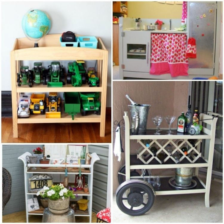 DIY Changing Table Repurpose Projects Collage