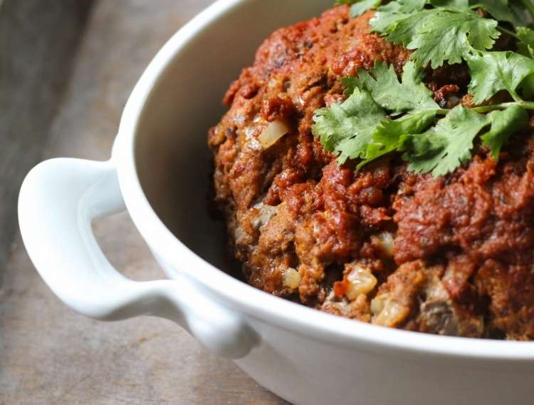 OneCrazyHouse Instant Pot Dinners paleo mexican meatloaf in serving bowl