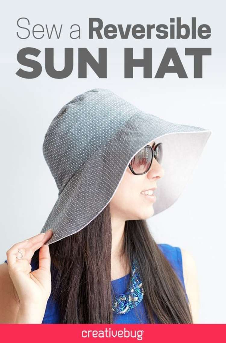 OneCrazyHouse Stay Cool without a pool woman with long hair wearing sunglasses and reversible floppy hat