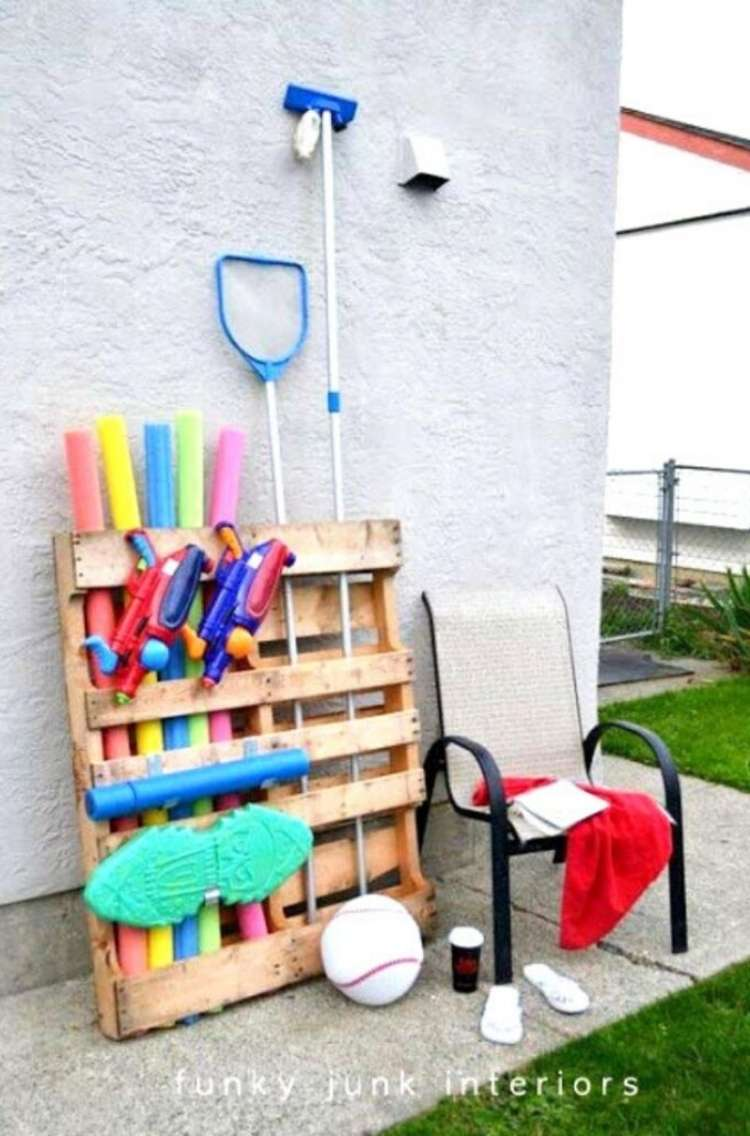 OneCrazyHouse pool storage pool storage made from pallet