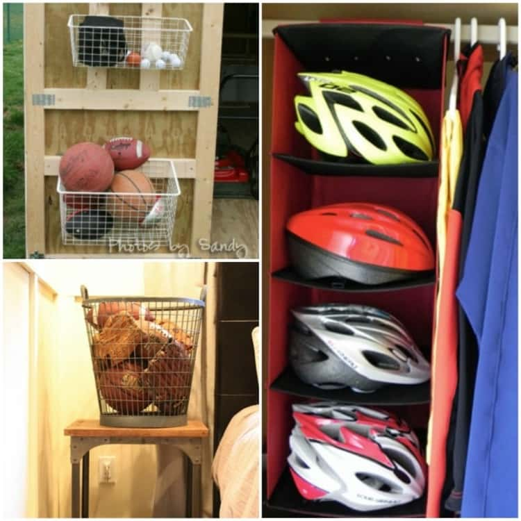 Outdoor storage for sports equipment